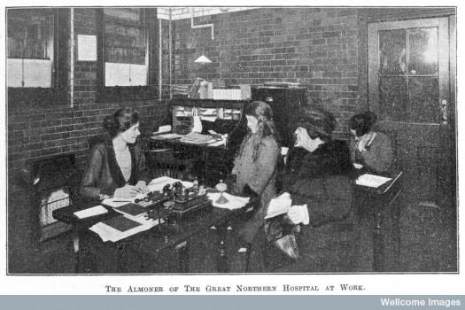 Sheffield almoner, c.1922